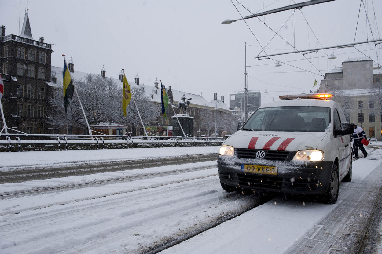 Winter in de stad